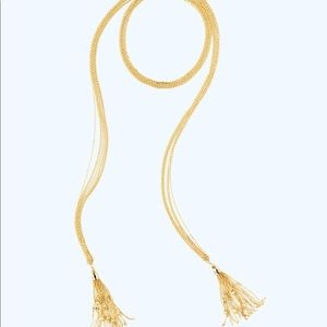 Lilly Pulitzer caught up necklace gold tassel